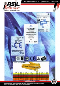 Polyester (Bez) Sapanlar, 7 Katsayılı, Polyester Sapan Fiyatları